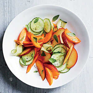 Apricot, Cucumber, Pluot, and Lime Basil SaladRecipe