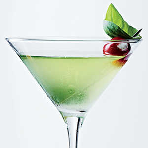 Sweet Basil Martini with Blue Cheese Tomatoes Recipe