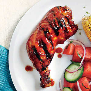 Grilled Chicken with Honey-Chipotle BBQ Sauce Recipe