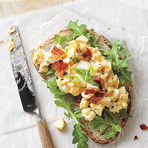 Egg Salad Sandwiches with Bacon and Sriracha Recipe