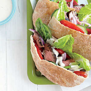 Greek-Seasoned Steak SandwichesRecipe
