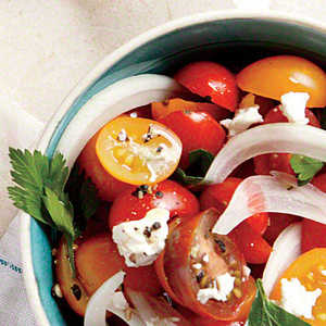 Tomato, Sweet Onion, and Parsley Salad Recipe