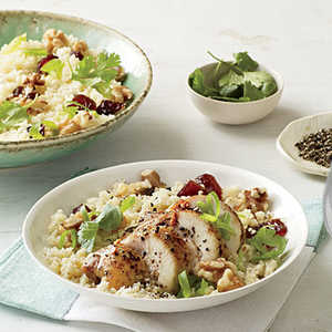 Couscous Salad with Chicken, Dates, and WalnutsRecipe