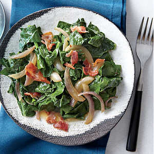 Wilted Kale with Bacon and VinegarRecipe