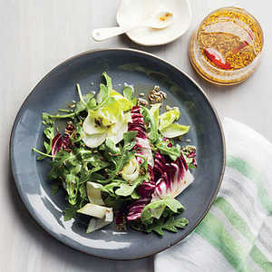 Bitter Greens Salad with Spiced Mirin DressingRecipe