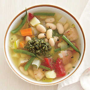Fall Vegetable Stew with Mint PestoRecipe