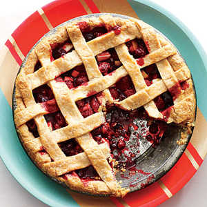 Lattice-Topped Cranberry-Raspberry Pie Recipe
