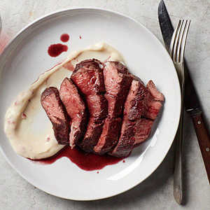 Port-Stained Beef MedallionsRecipe