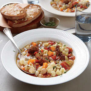 Chickpea and Sausage Minestrone Recipe