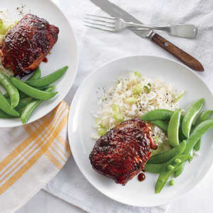 Sticky Soy-Hoisin Chicken Thighs Recipe