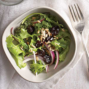 Cherry and Sunflower Seed Kale Salad Recipe