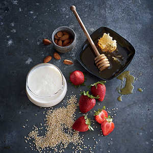 Quinoa with Strawberries and ButtermilkRecipe