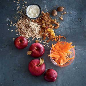 Rolled Oats with Carrot and Apple Recipe