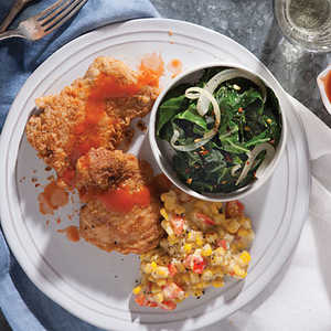 Savory Pan-Fried Chicken with Hot SauceRecipe
