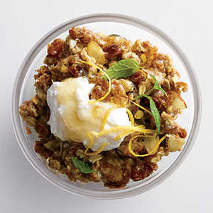 Spiced Warm Muesli with Honeyed Ricotta Recipe