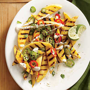 Spicy Grilled Mango with Chiles and CremaRecipe