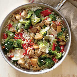 Chicken, Rice, and Parmesan Skillet Recipe