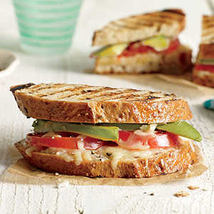 Avocado and Tomato Grilled Cheese SandwichesRecipe