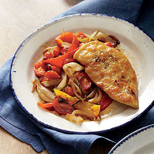 Chicken Scaloppine with PeperonataRecipe
