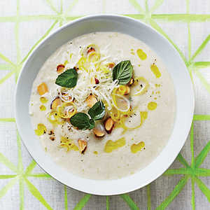 Fennel Soup with Almond-Mint ToppingRecipe
