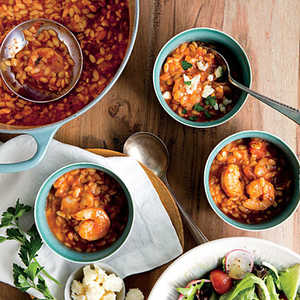 Shrimp Marinara Soup with Crumbled FetaRecipe