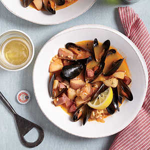 Smoky Portuguese-Style MusselsRecipe