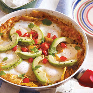 Chilaquiles and Eggs