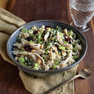 Chicken and Edamame Couscous SaladRecipe