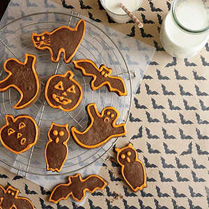 Chocolate Halloween Cutout CookiesRecipe