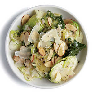 Kale and Almond Brussels Sprout SaladRecipe