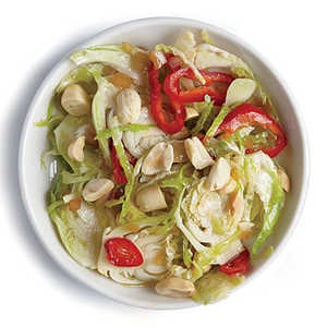 Peanut and Chile Brussels Sprout SaladRecipe