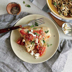 Baked Cod with Feta and TomatoesRecipe