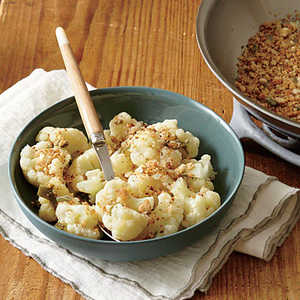Cauliflower with Anchovy BreadcrumbsRecipe
