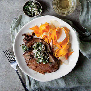 Leg of Lamb with Shaved Fall VegetablesRecipe