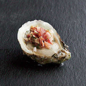 Oysters with Bacon MignonetteRecipe