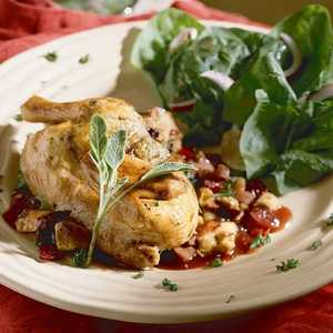 Game Hens with Fruit-and-Sausage StuffingRecipe