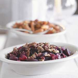 Glazed Beets and Cabbage With Pepper-Toasted Pecans Recipe
