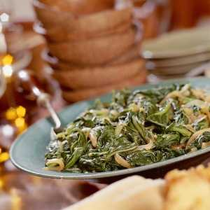 Turnip Greens With Caramelized OnionsRecipe