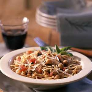 <p>Pasta Skillet with Tomatoes and Beans</p>