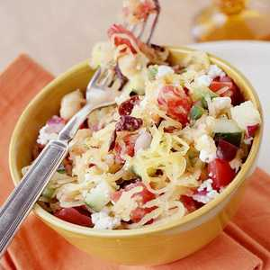 Greek-Style Salad with Spaghetti Squash Recipe