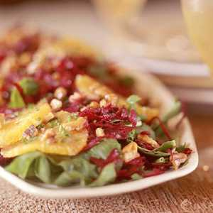 Spinach Salad with Beets and OrangesRecipe