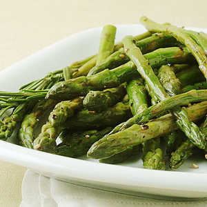 Pan-Roasted Asparagus with Lemon RindRecipe