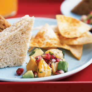 Pomegranate-Avocado Salsa with Spiced ChipsRecipe