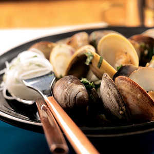 Steamed Clams with Thai Basil and ChilesRecipe