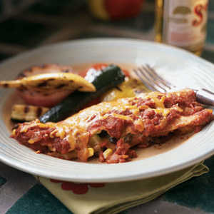 Black Bean, Corn, and Zucchini EnchiladasRecipe