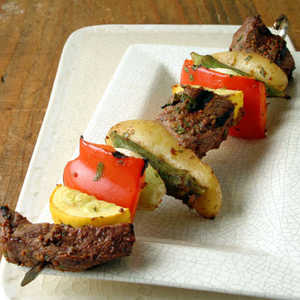 Beef, Okra, and Potato KebabsRecipe