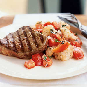 Grilled Beef Panzanella with Port Wine VinaigretteRecipe