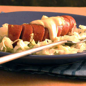 Braised Cabbage and Leeks with Turkey Sausage Recipe