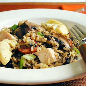 Chicken and Wild Rice with Smoked SausageRecipe