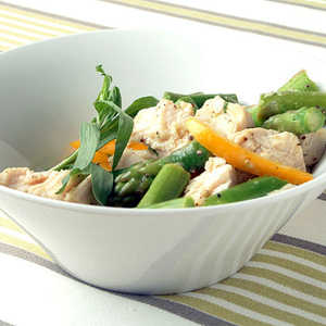 Poached Chicken and Asparagus Salad Recipe